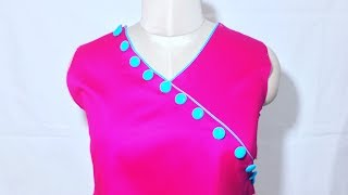Download Neck Design with piping & buttons Video