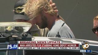 Download Man arrested for stabbing Home Depot worker Video