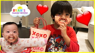 Download Kids Candy Surprise Valentine Day Haul and Princess T Family Fun Game Ryan's Family Review Video