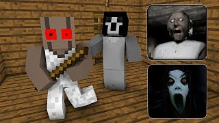 Download Monster School : GRANNY VS SLENDRINA HORROR GAME CHALLENGE - Minecraft Animation Video