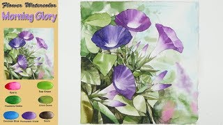 Download Morning Glory - Drawing Flower Landscape Watercolor (wet-in-wet. Fabriano rough) NAMIL ART Video