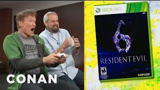 Download Clueless Gamer: Conan O'Brien Reviews ″Resident Evil 6″ - CONAN on TBS Video
