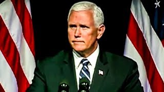 Download Mike Pence Nearly Falls Asleep During Space Force Speech Video