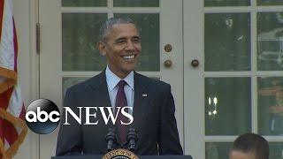Download Obama's Dad Jokes During Turkey Pardoning Video
