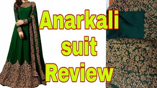 Download Amazon anarkali suit Unboxing and review/heavy embroidery anarkali suit Video