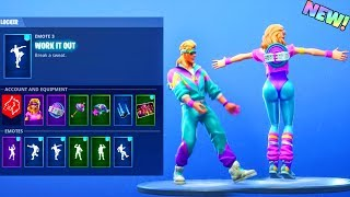 Download NEW! FITNESS SKIN SET! With BOOGIE DOWN EMOTE and OTHER DANCES! (Showcase) Fortnite Battle Royale Video