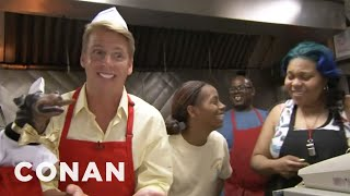 Download Jack McBrayer & Triumph Visit Chicago's Weiner's Circle - CONAN on TBS Video
