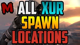 Download Destiny All Xur's Spawn Locations Video