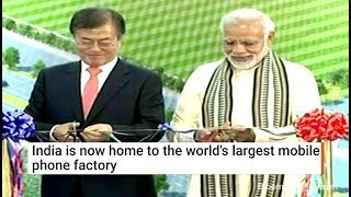 Download Big Push For Modi's Make In India As Samsung Opens World's Largest Mobile Phone Factory In Noida Video