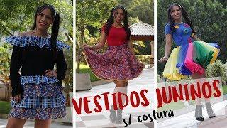 Download ✂️ DIY 3 VESTIDOS DE FESTA JUNINA (SEM COSTURA) Video
