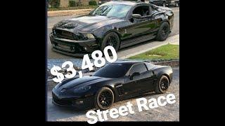 Download Shelby GT500 vs Corvette $3,480 Street Race Video