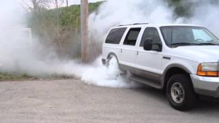 Download Ford Excursion Burnout 7.3 Straightpiped Diesel Video