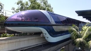 Download Disneyland Monorail FULL Ride from Front Cab, Grand Circle Tour 2015, Through DCA, Downtown Disney Video