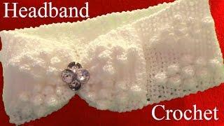 Download Como tejer una diadema a Crochet en punto rombos granizo puff - How to Knitting Crochet Video