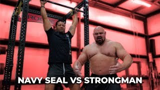 Download WHO CAN DO MORE PULL-UPS? NAVY SEAL VS 4X WORLDS STRONGEST MAN Video