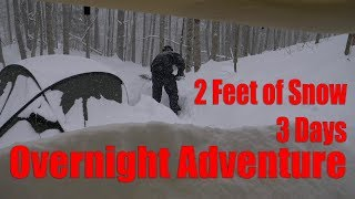 Download 2 Feet of Snow, 3 Days in the Forest - Overnight Adventure Video