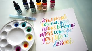 Download Watercolor Lettering with Dr. Ph. Martin's Radiant Concentrated Water Color Video