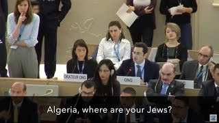 Download ″Algeria, where are your Jews?″ — Hillel Neuer silences the U.N. Video