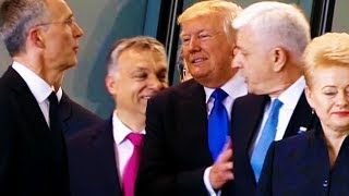 Download Trump ACTUALLY SHOVES Montenegro Prime Minister At NATO Video