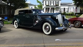 Download 1937 Packard Model 1508 Convertible Sedan & V12 Engine Sound on My Car Story with Lou Costabile Video