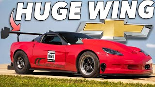 Download This Corvettes wing is freaking HUGE..but it WORKS! Video
