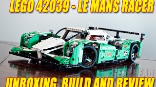 Download Lego Technic 42039 Le Mans Racer - Unboxing, build and review Video