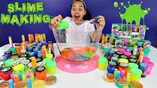Download Mixing All My Slimes! DIY Giant Slime Smoothie | Toys AndMe Video