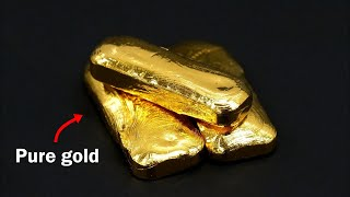 Download Turning old jewelry into pure gold bars Video