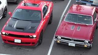 Download Old vs New Muscle Cars Drag Racing,Dodge Demon,Hellcat,Charger 69' and more Video