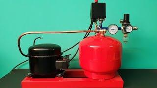 Download DIY Silent Air Compressor make of fridge motor Video