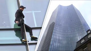 Download Daredevil Climbs Skyscraper Again Without Harness Video
