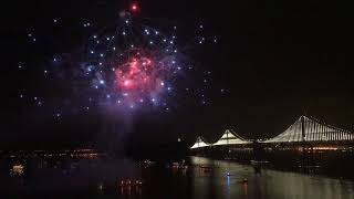 Download San Francisco Bay Bridge New Year 2018 Fireworks Video
