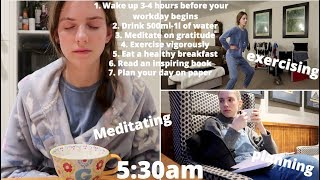Download 5 days of following 'the most productive' morning routine Video