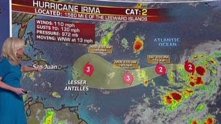 Download Forecasters hope Hurricane Irma remains a 'fish storm' Video
