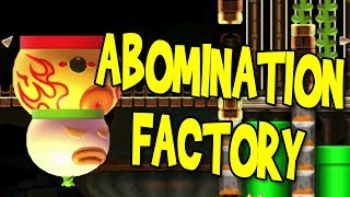 Download AMAZING GLITCH LEVEL! ABOMINATION FACTORY | Super Mario Maker | Psycrow Video