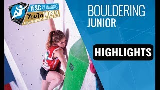 Download IFSC Youth World Championships Moscow 2018 - Juniors Bouldering Finals Highlights Video