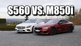 Download Mercedes-Benz S560 Coupe vs. BMW M850i (ENG) - Expensive Coupe Battle Video
