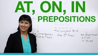 Download English Grammar - Prepositions to say where you live: AT, ON, IN Video