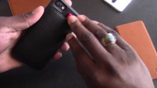 Download iPhone 7 Black Leather Wallet Case! Video