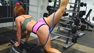 Download Sexy Toned Legs plus Bigger Butt Gym Workout! Squat Sponge Challange Video