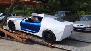 Download 2016 C7 Corvette Delivery Off Truck & Startup Exhaust! Video
