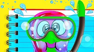 Download COOL LIQUID NOTEBOOK and Slime Sam Video