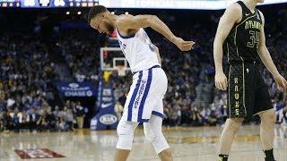 Download Stephen Curry Returns 29 Points! Leaves Knee Injury! 2017-18 Season Video