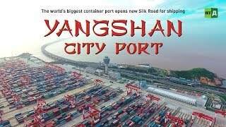 Download Yangshan City Port. The world's biggest container port opens new Silk Road for shipping Video