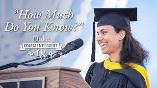 Download Deeksha Malhotra: ″How Much Do You Know?″ | Duke University Commencement 2018 Student Speaker Video
