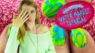 Download Water Marble Nail Art! How to Water Marble Your Nails Step by Step Tips for BEGINNERS! Video