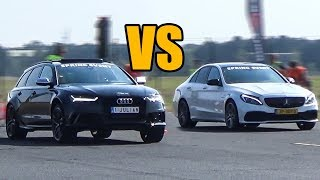 Download Audi RS6 vs Mercedes-Benz C63S AMG - DRAG RACE! Video