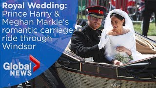 Download Royal Wedding FULL carriage ride of Prince Harry and Meghan Markle through Windsor Video