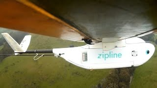Download Zipline drones airdrop medical supplies to African villages Video