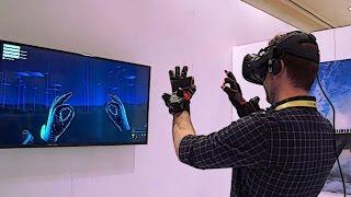 Download Hands-on: Noitom Hi5 Vive Tracker Gloves at CES 2017 Video